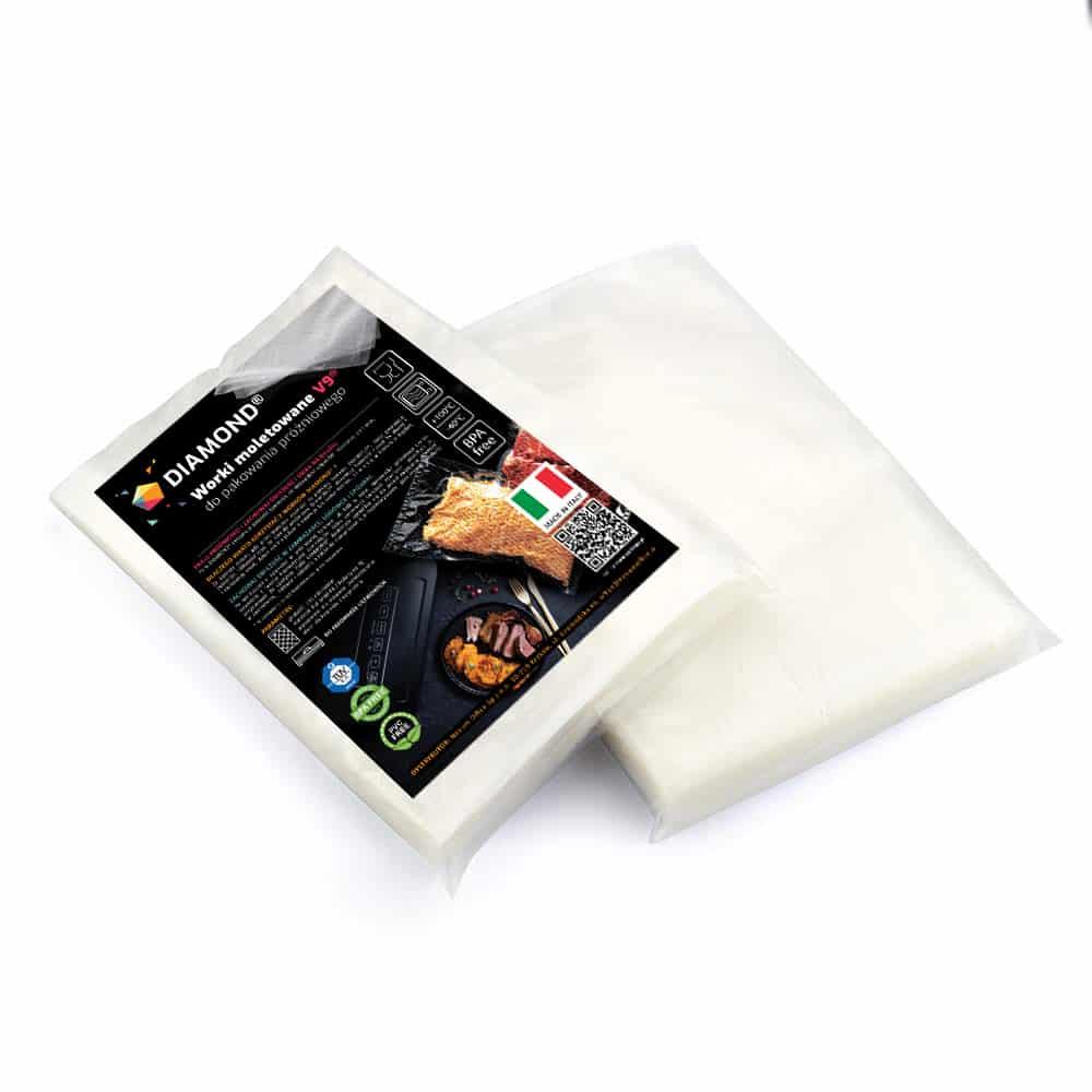 Worki moletowane DIAMOND® 15x25 cm (pakiet)