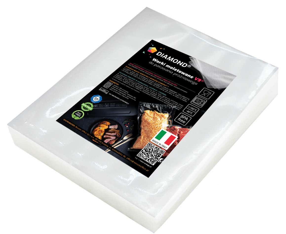 Worki moletowane DIAMOND® 20x25 cm (pakiet)