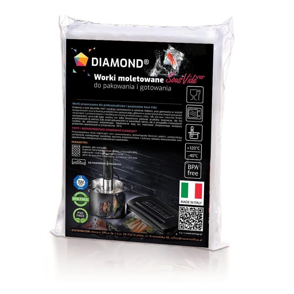 Worki moletowane sous vide DIAMOND® 30x40 cm