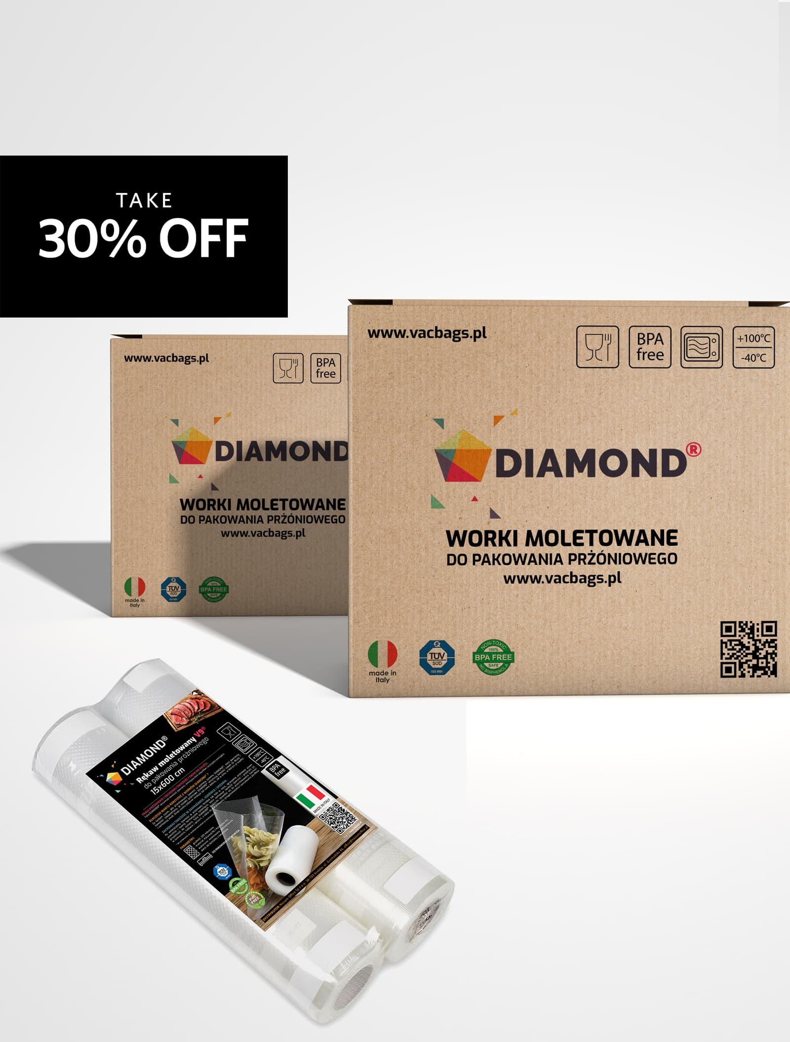 Rękaw moletowany DIAMOND® 25x600 cm (pakiet)